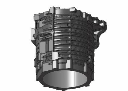 Beispiel für ein Elektromotorengehäuse