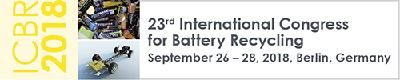 ICBR 2018 shows new trends in battery recycling