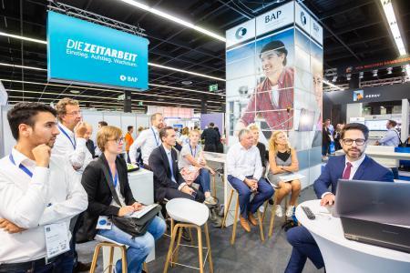 Reger Andrang am Stand des BAP auf der Zukunft Personal Europe 2018 in Köln