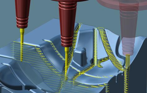 New 'Rib Milling' cycle for milling deep cavities / Image source: OPEN MIND
