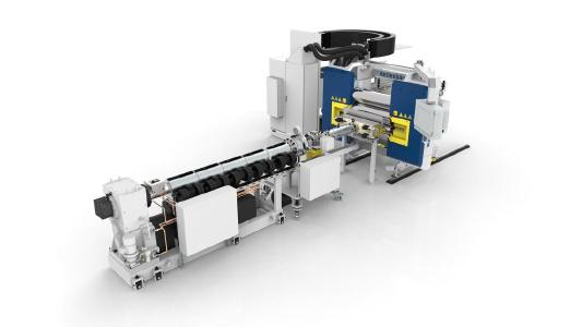 In-line-extrusion line of the newest generation