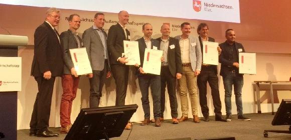 Außenwirtschaftspreis auf der HMI19: Gewinner sind LAP aus Lüneburg und Amazoren-Werke aus Hasbergen