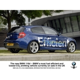 The new BMW 116d - BMW's most fuel efficient and lowest CO2 emitting vehicle currently on sale in the UK (06/2009)
