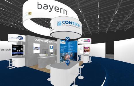 Contech am Gemeinschaftsstand von bayerninnovativ auf der MedtecLive 2021.