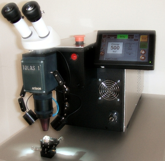 The TOLAS 1 micro-welder by arteos.