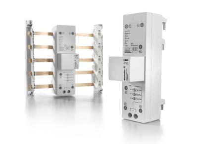 Weidmüller VARITECTOR PU ZP: Lightning current arrester for quick installation on 40 mm busbars in the meter cabinet or installation distributor
