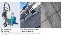 JetMaster links Handgerät, rechts automatisierte Anlage außen und innen