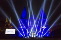 Generalprobe für die Lichtshow zum Dräger-Festakt