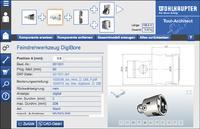 Auswahl von Komponenten beim webbasierten Werkzeugkonfigurator Tool-Architect von Wohlhaupter