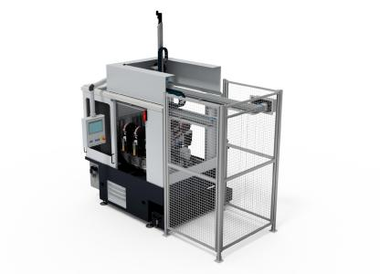The innovative programmable, self-loading tape finishing machine CUBE evo can drastically reduce sources of errors and changeover times as well as significantly increase the quality and efficiency of the machining process
