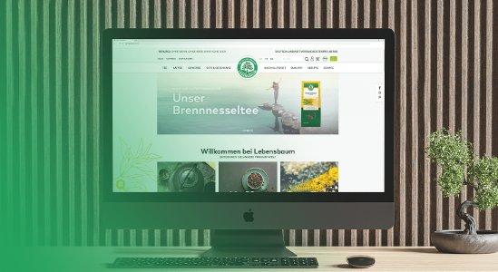 Lebensbaum - aus zwei wird eins. Monday Consulting verheiratet die Corporate Website und den Onlineshop auf Headless-Basis.