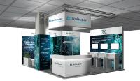 it-sa 2018 in Nürnberg: Messestand-Visualisierung der Schleupen AG, Halle/Stand 10.1-714
