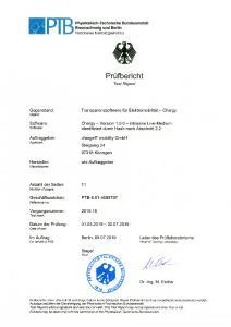 Prüfbericht der PTB zur Transparenzsoftware
