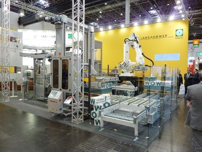 W+D-Langhammer presented a complete palletizing unit in action to an international audience