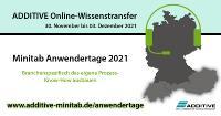 ADDITIVE Minitab-Anwendertage 30.11. - 03.12.2021