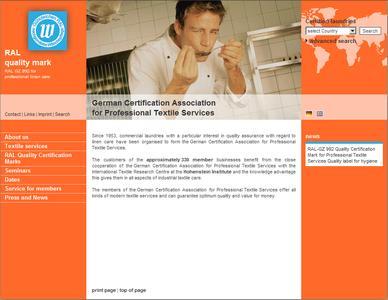 Unter www.waeschereien.de und www.qualitylaundry.com bietet die Gütegemeinschaft sachgemäße Wäschepflege e. V. nun auch in  gewerblichen Wäscherei