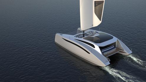 Luxus katamaran  Katamaran 'Zero Sail' - Nachhaltiger Luxus auf See dank SolidWorks ...