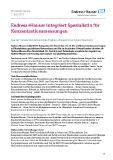 [PDF] Pressemitteilung: Endress+Hauser integriert Spezialistin für Konzentrationsmessungen