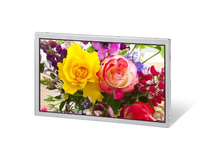 High quality 9.0-inch (23 cm) full high-definition LCD module with viewing angles of 176 degrees and luminance of 400 cd/m2