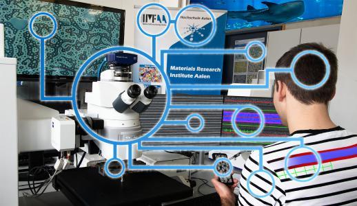 Zum dritten Mal findet der Materialmikroskopietag an der Hochschule Aalen statt. Schwerpunkt dieses Mal: Machine Learning und Künstliche Intelligenz in der Materialmikroskopie (Bild: © Hochschule Aalen / Institut für Materialforschung)