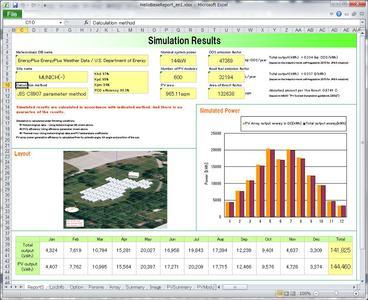 HelioBase Simulationsergebnis