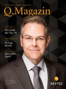 Das Q.Magazin erscheint jährlich zur Fachmesse Control.