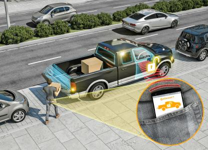 The automatic tailboard: Thanks to the PASE system from Continental, you can keep your car keys in your pocket. The tailgate opens and closes automatically / Picture: © Continental AG