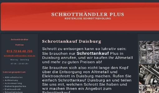 Wir kaufen Ihren Schrott und Ihr Altmetall in Duisburg Wir sind mobil und kommen dort hin wo Sie uns brauchen. Schrottabholung direkt vor Ort, immer in Ihrer Nähe! Wir sind Schrotthändler, die in ganz Duisburg Und Umgebung unterwegs sind.