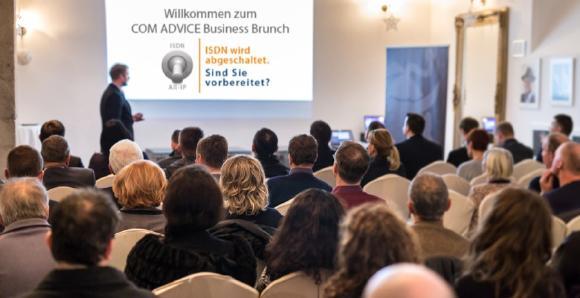 Der COM ADVICE Business Brunch am 30.03.2017  in Bad Vilbel beantwortet Fragen zur ISDN-Abschaltung