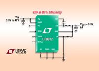 42V Synchronous Step-Down Delivers 6A from a 3mm x 6mm QFN & Requires Only 3µA of Quiescent Current