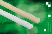Das norelem-Sortiment umfasst auch Kunststoff-Zahnstangen in Modul 0,5 bis 3 mit einer Standardlänge von 250 mm.