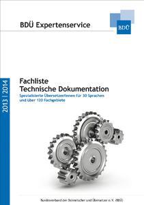 Cover der Fachliste Technik. Abdruck honorarfrei.