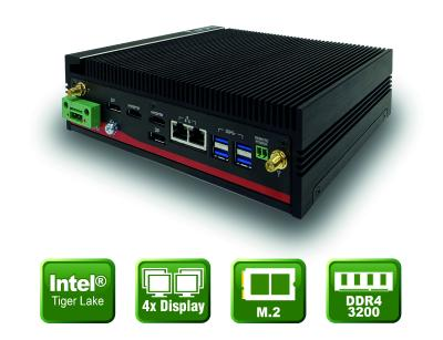 Lüfterloser Embedded PC mit Tiger Lake SoC