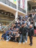 """Schülerinnen und Schüler der Beruflichen Schule auf der Ausstellung """"Open Codes – die Welt als Datenfeld"""" des Zentrums für Kunst und Medien (ZKM) in Karlsruhe"""