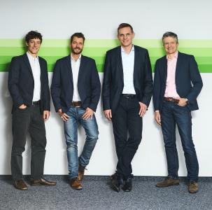 Die Geschäftsführer Dr. Jan Klobucnik, Jörg Paul Zimmer, Dirk Bingler und Ekkehard Ziesche (v.l.n.r.) freuen sich über die Partnerschaft mit Bregal Unternehmerkapital, durch den die GUS Group weitere wichtige Wachstumsimpulse erhält
