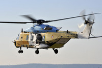 Eurocopter's first NH90 TTH tactical transport helicopter for France performs its maiden flight