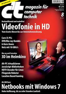 Das Titelbild der aktuellen c't-Ausgabe 8/2010