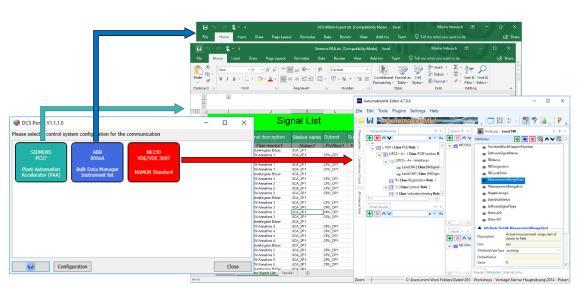 Mit Aucotecs neuem DCS-Portal lassen sich die Festlegungen aus dem Anlagen-Design automatisiert und direkt an die Programmierung gängiger Kontrollsysteme übergeben – auch an mehrere gleichzeitig (© AUCOTEC AG)