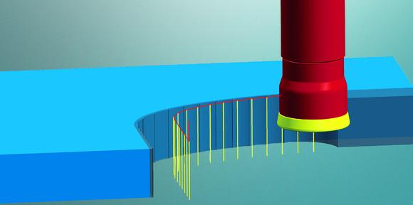 2D plunge milling for efficient roughing and finishing / Image source: OPEN MIND