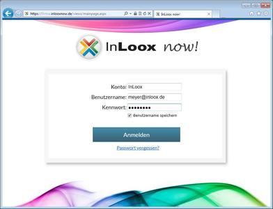 LogIn-Maske InLoox now