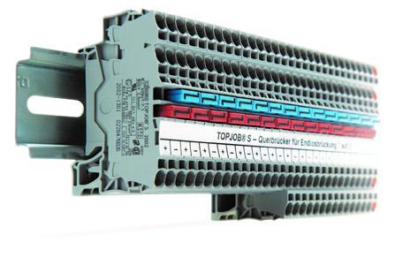 Der neue Querbrücker für Endlosbrückung von 1 auf 3 eignet sich beispielsweise, um die 24-Volt-Spannungsversorung von Kleingeräten geräteorientiert umzusetzen. Die Schaltung lässt sich mit dem Brücker außerdem einfach und flexibel erweitern, falls Funktionen hinzukommen.