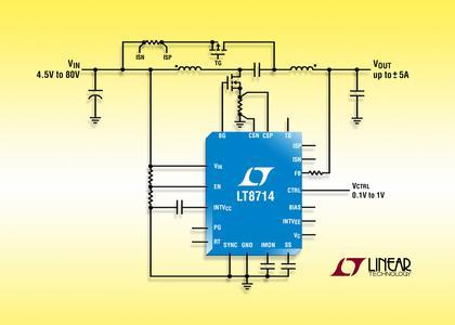 Neues von Arrow: LT8714: 80V-Synchron-Vierquadranten-DC/DC-Controller