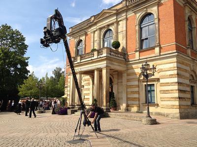 """Richard Wagner hat das Gebäude zwischen 1872 und 1875 errichten lassen. Natürlich fanden auch hier Dreharbeiten zu """"Der Colón Ring"""" statt © DW"""
