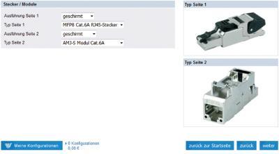 Das System ermöglicht auch die Wahl von Stecker, Modul oder beidem.