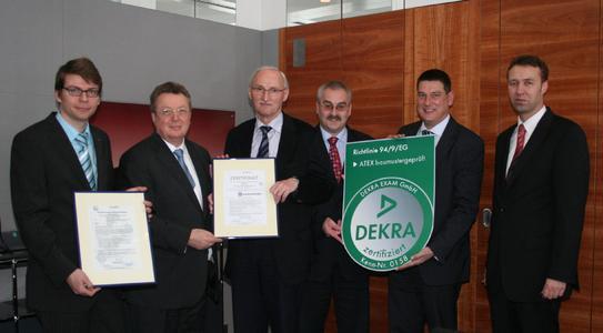 DEKRA-EG-Baumusterprüfungszertifikate