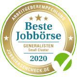 Testsieger und dreifacher Goldstatus der besten Jobbörsen 2020 von Jobboersencheck