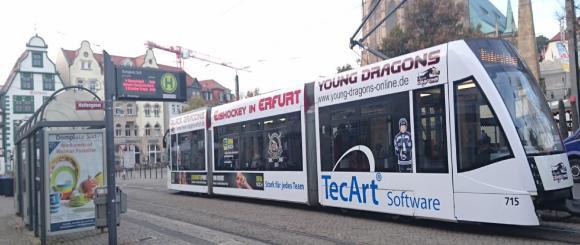 Mit dem Medienkanalmanagementsystem von TecArt lassen sich Werbeflächen effizient verwalten. Quelle: TecArt GmbH