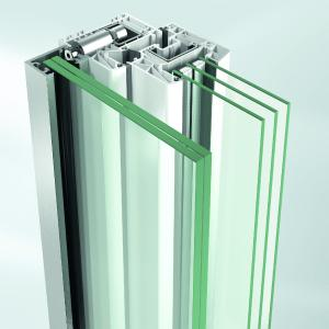 Schüco Absturzsicherungen: Befestigungssystem mit dem Profildübel / Bildnachweis: Schüco Polymer Technologies KG