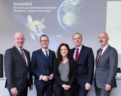 Hochrangige Gäste bei OHB: Dr. Gerd Gruppe, Senator Martin Günthner, Bundestagsabgeordnete Sarah Ryglewski, Marco Fuchs, Andreas Lindenthal