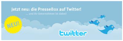 NEU PresseBox mit Twitter